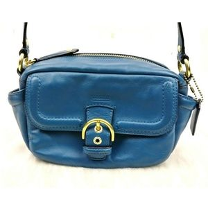 Coach  'Campbell' Teal Small Crossbody